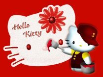 Hello Kitty pintando